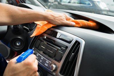 clean the car before a long trip